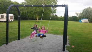 New swing on campsite at La Croix-Galliot